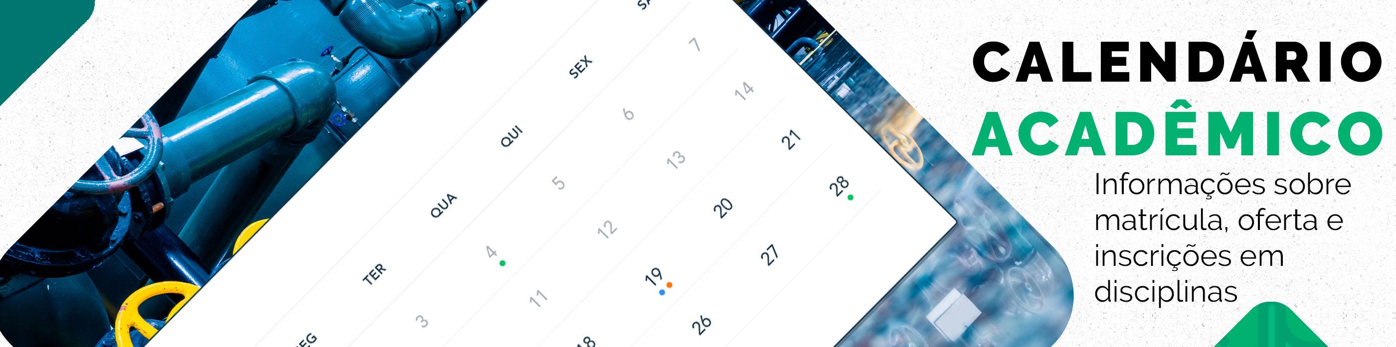 Imagem contendo um calendário e link para o Calendário Acadêmico do PPGEP